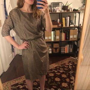 Brooks Brothers 100% Silk Wrap Dress